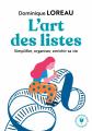Couverture L'art des listes Editions Marabout 2020