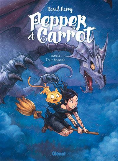 Couverture Pepper et Carrot, tome 4 : Tout bascule