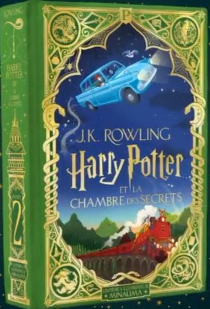Couverture Harry Potter, illustré (MinaLima), tome 2 : Harry Potter et la chambre des secrets