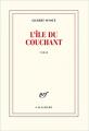 Couverture L'île du couchant Editions Gallimard  (Les cahiers de la nrf) 2021