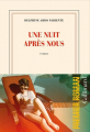 Couverture  Une nuit après nous  Editions Gallimard  2021