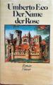 Couverture Le Nom de la rose Editions Carl Hanser 1985