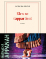 Couverture Rien ne t'appartient  Editions Gallimard  (Blanche) 2021