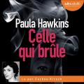 Couverture Celle qui brûle Editions Audiolib 2021