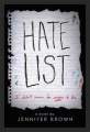 Couverture Hate list Editions Little brown 2017