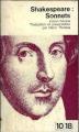 Couverture Sonnets Editions 10/18 1965
