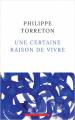 Couverture Une certaine raison de vivre Editions Robert Laffont 2021