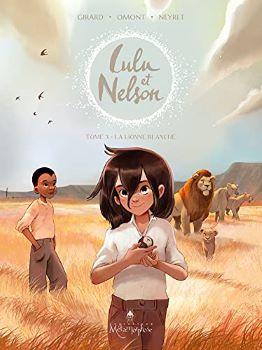 Couverture Lulu et Nelson, tome 3 : La lionne blanche