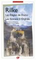Couverture Les élégies de Duino, Les sonnets à Orphée Editions Flammarion (GF - Bilingue) 1992