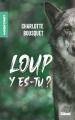 Couverture Loup y es-tu? Editions Glénat (Roman) 2021