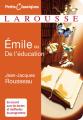 Couverture Emile ou de l'éducation Editions Larousse (Petits classiques) 2013