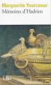 Couverture Mémoires d'Hadrien Editions Folio  2019