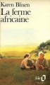 Couverture La ferme africaine Editions Folio  1989