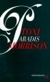 Couverture Paradis Editions Christian Bourgois  1998