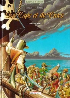 Couverture De cape et de crocs, tome 02 : Pavillon noir !
