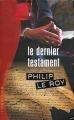 Couverture Le dernier testament Editions France Loisirs (Thriller) 2006