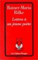 Couverture Lettres à un jeune poète Editions Grasset (Les Cahiers Rouges) 1937