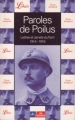 Couverture Paroles de Poilus Editions Librio 2001