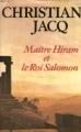 Couverture Maître Hiram et le roi Salomon Editions Le Grand Livre du Mois 1989