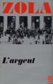 Couverture L'Argent Editions Le Livre de Poche 1980