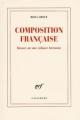 Couverture Composition française Editions Gallimard  (Blanche) 2009