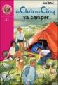 Couverture Le Club des cinq va camper Editions Hachette (Bibliothèque rose) 2000