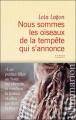 Couverture Nous sommes les oiseaux de la tempête qui s'annonce Editions Flammarion 2011