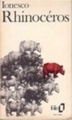 Couverture Rhinocéros Editions Folio  1975