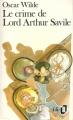 Couverture Le crime de Lord Arthur Savile Editions Folio  1988