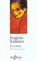 Couverture La leçon Editions Folio  (Théâtre) 1994