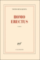 Couverture Homo erectus Editions Gallimard  (Blanche) 2011