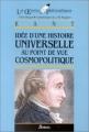 Couverture Idée d'une Histoire universelle au point de vue cosmopolitique Editions Bordas (Les oeuvres philosophiques) 2001