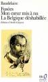Couverture Fusées, Mon coeur mis à nu, La Belgique déshabillée - Amoenitates Belgicae Editions Folio  (Classique) 1986