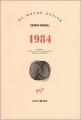 Couverture 1984 Editions Gallimard  (Du monde entier) 2004