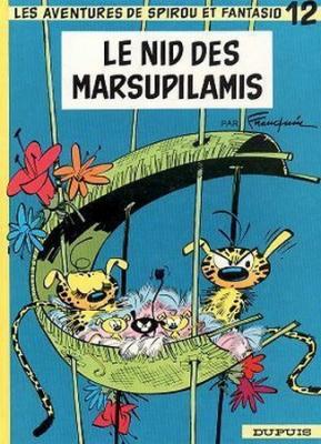 Couverture Spirou et Fantasio, tome 12 : Le Nid des marsupilamis