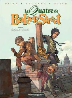 Couverture Les Quatre de Baker Street, tome 1 : L'affaire du rideau bleu