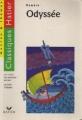 Couverture L'Odyssée, abrégée Editions Hatier (Classiques - Oeuvres & thèmes) 1998