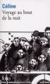 Couverture Voyage au bout de la nuit Editions Folio  2010