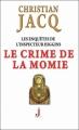 Couverture Les enquêtes de l'inspecteur Higgins, tome 01 : Le crime de la momie Editions J 2011