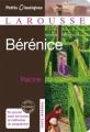 Couverture Bérénice Editions Larousse (Petits classiques) 2011