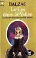 Couverture Le lys dans la vallée Editions Marabout 1959