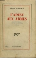 Couverture L'adieu aux armes Editions Gallimard  (Blanche) 1948
