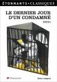 Couverture Le Dernier Jour d'un condamné Editions Flammarion (GF - Etonnants classiques) 2007