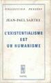 Couverture L'existentialisme est un humanisme Editions Nagel 1970