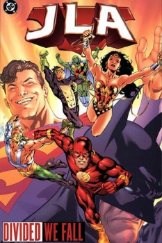 Couverture JLA, book 08 : Divided We Fall