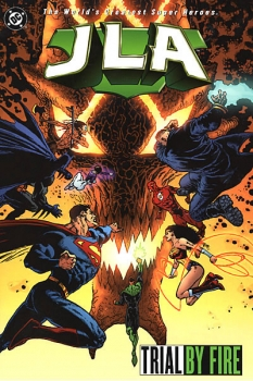 Couverture JLA, book 14 : Trial by Fire