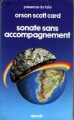 Couverture Sonate sans accompagnement Editions Denoël (Présence du futur) 1982