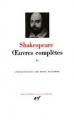 Couverture Oeuvres complètes, tome 2 Editions Gallimard  (Bibliothèque de la pléiade) 1994