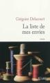 Couverture La liste de mes envies Editions JC Lattès 2012