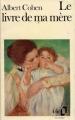 Couverture Le livre de ma mère Editions Folio  1991